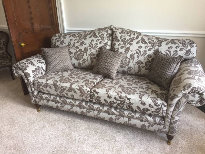 Traditional floral sofa
